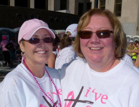Terri and Jane at the Race for the Cure