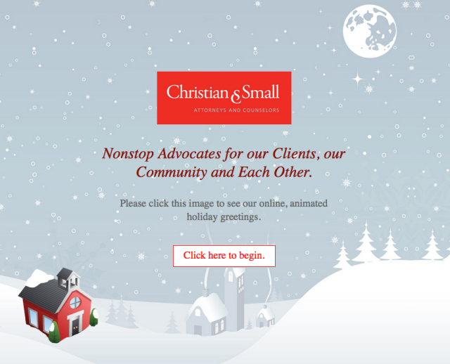 2015 Holiday Email Image